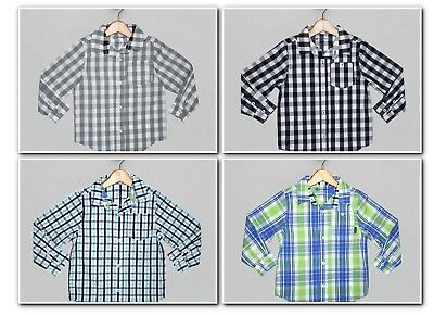 Sprockets Boys Dress Button Down Plaid Shirt, 5, 6, 7, NWT, Easter Spring - Boys Easter Clothes
