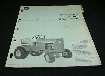 John Deere 60 Lawn Tractor Parts Manual Book Catalog List Original