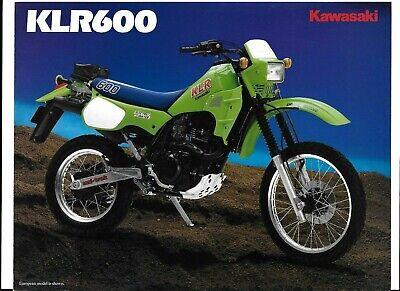 A SUPER 1985? KAWASAKI KLR600 BROCHURE (KL600-B1) #1556