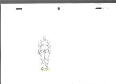 "2009 GI JOE Cartoon Animation 11.5x8.25"" Pencil Prod. Drawing ROADBLOCK C11-14"