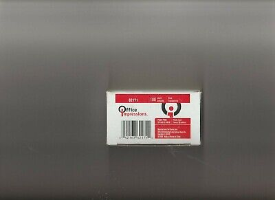 Office Impressions 100 Ct. Box Push Pins Clear