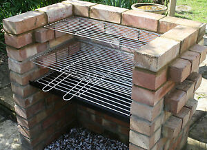 Charcoal DIY Brick BBQ Kit with Stainless Grill & Stainless Warming Grill