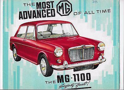 1964 MG 1100 brochure