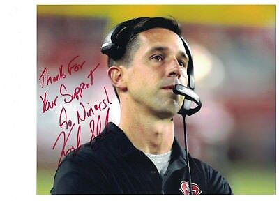Kyle Shanahan Autograph San Francisco 49Ers 8X10 Photo Signed