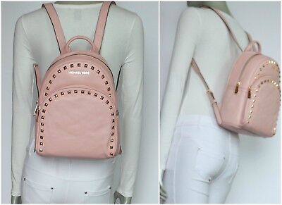 Michael Kors Abbey Medium Frame Out Stud Leather Backpack Blossom NWT$398.00