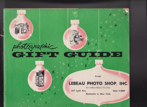 Photographic Gift Guide Catalog Lebeau Photo Shop 1957 Kodak Nikon