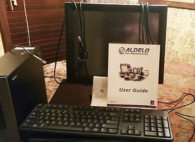 Complete Aldelo Pro Pos Syst With Touch Screencomputer Keyboard Cash Drawer