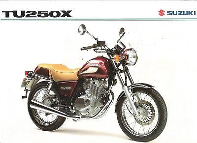 Suzuki TU250 TU250X Volty GB Sales Brochure