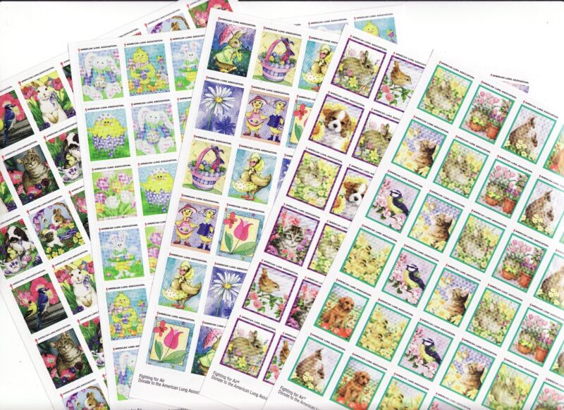 U.S. Spring Charity Seals Sheet Collection, 2010-2014, VF, MNH