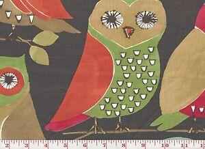 Overstock - Owl Print P Kaufmann Drapery Upholstery Fabric Gossip Gals Graphite