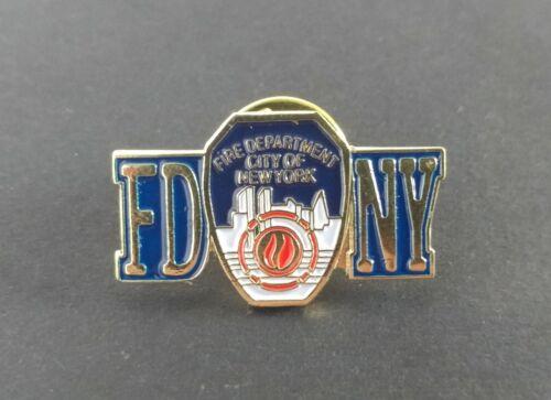 FDNY - Fire Department City Of New York - Blue & Gold Tone - Lapel Hat Pin