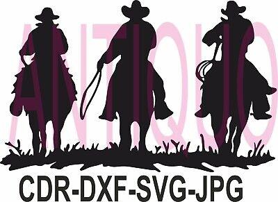 Cnc Vector Dxf Plasma Router Laser Cut Dxf-cdr Vector Files - Cowboy