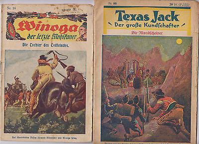 Texas Jack 2.Serie Original 1930 Nr. 86 + Winoga  Nr. 10 Original 1921