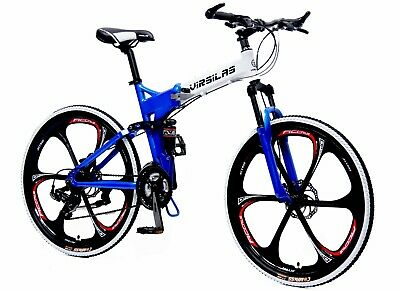 FOLDING MOUNTAIN BIKE MTB SHIMANO 21 SPEED FULL SUSPENSION 26x18 - AUTHENTIC!
