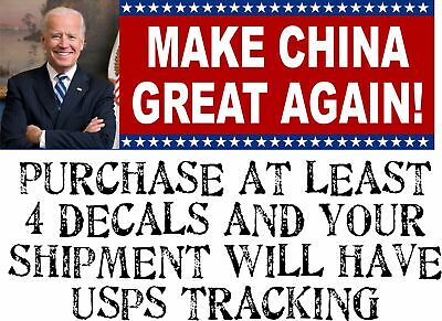 "Funny ""MAKE CHINA GREAT AGAIN"" Anti Joe Biden BUMPER STICKER rigged election"