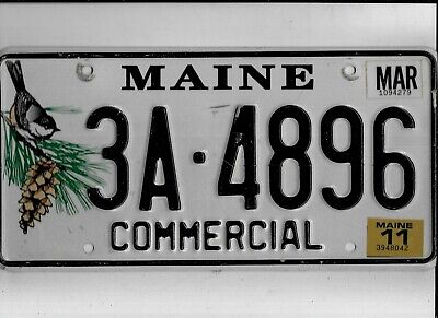 "MAINE 2011 license plate ""3A-4896"" ***NATURAL***"