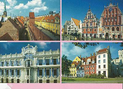 p366   6 stunning views of Riga, Latvia, all pristine mint, 1990s-?