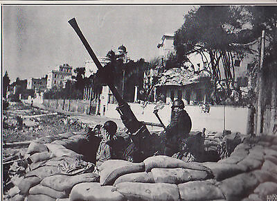 Allied Fifth Army Anti Aircraft Gunners Wwii Dispatch Photo News Service
