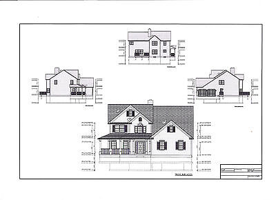 Full Set Of Two Story 4 Bedroom House Plans 2 750 Sq Ft