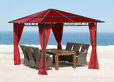 outflexx profi hardtop pavillon grau aluminium 3 x. Black Bedroom Furniture Sets. Home Design Ideas