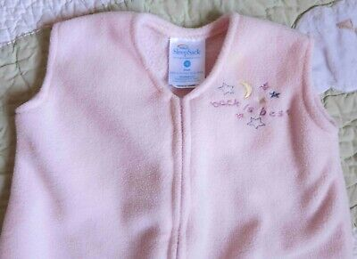 Halo Pink Fleece Sleep Sack Birth-6 Months 10 to 18 lbs Small Back is Best
