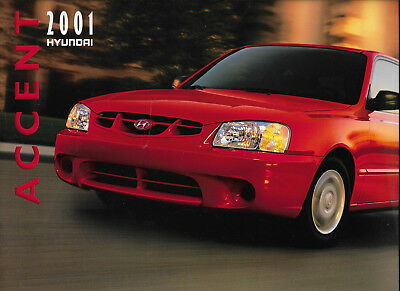 2001 Original Hyundai Accent Automobile Brochure Catalog