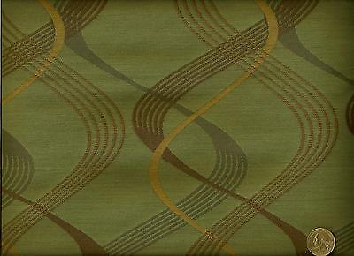- Momentum Scape Freefall  Contemporary  Spa Green and Brown Upholstery Fabric