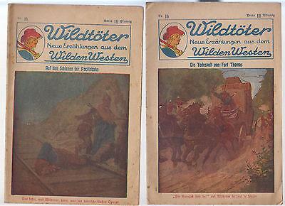Wildtöter Nr. 16 + 18 Original Verlagshaus für Volksliteratur und Kunst