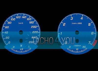 Tachoscheibe für BMW 3er E90 & 5er E60 Benziner 260 kmh km/h M3 M5 526702 Blau gebraucht kaufen  Heroldsbach