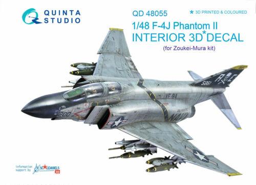 Quinta Studio QD48055 1/48 F-4J Phantom II Interior Set w/free shipping