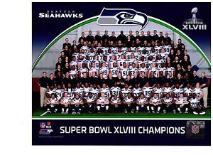 Seattle Seahawks Super Bowl XLVIII Champions Authentic 8x10 Color Team Photo NFL
