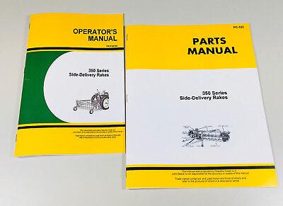 Operators Manual Parts Catalog For John Deere 350 350a Side Delivery Rake