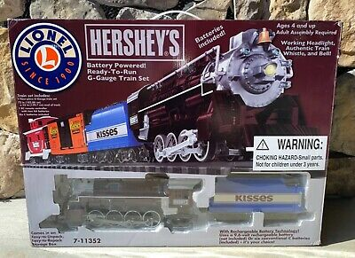 2011 New LIONEL Hershey's Freight G-Gauge Battery Train Set 7-11352 Christmas