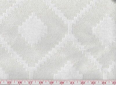 Texture Chenille Jacquard Ivory Upholstery Fabric by P Kaufmann Elation CL Cloud