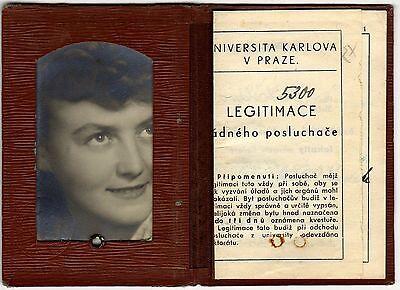 CZECHOSLOVAKIA:  UNIVERISTY ID (Prague - 1945) (# 5008)