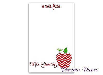 Teacher Personalized Note Pads Teacher Gifts Teacher Appreciation Gift