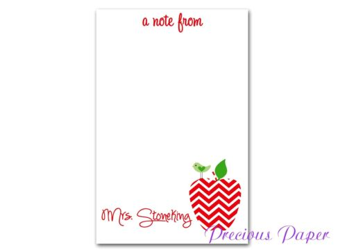 Teacher Personalized note pads teacher gifts, teacher appreciation gift