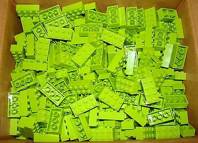 NEW Lot of 20 LEGO 2x4 Light (Lime) Green BRICKS PIECES BULK