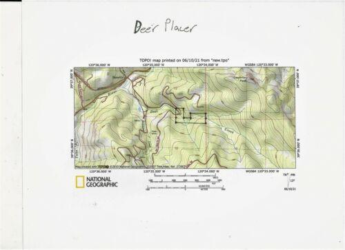 40 acre placer mining claim on Deer Creek, Bassetts, Sierra County, California!!