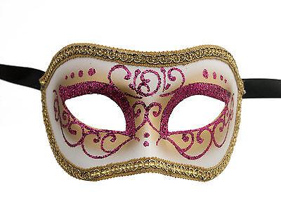 Mask Venice Colombine or Civet Pink Golden for DEGUISEMENT1101
