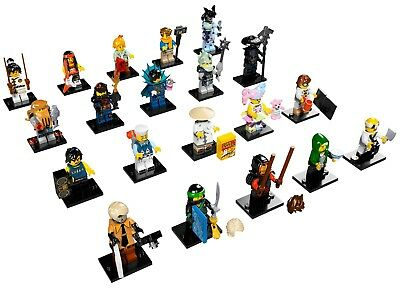 LEGO 71019 THE NINJAGO MOVIE MINIFIGURES COMPLETE SET OF 20 ( OPEN PACKETS)
