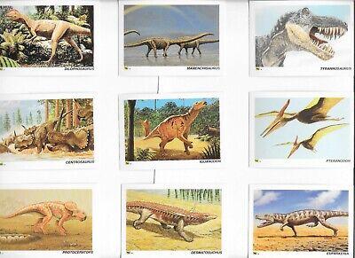 DINOSAURS COMPLETE SET OF 80 FACT CARDS 1992 BEAUTIFUL DINOSAUR ARTWORK NICE!