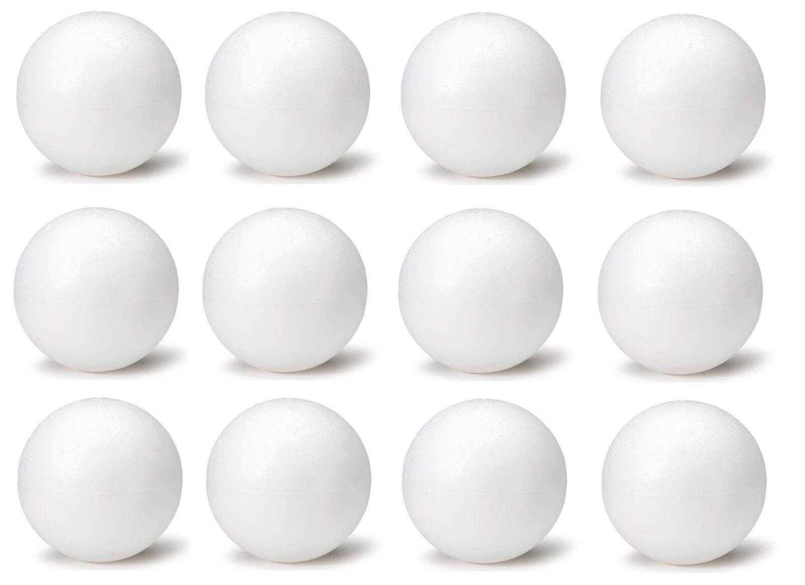 4-8cm Half-round Polystyrene Foam Balls for DIY Christmas Kids Craft Painted
