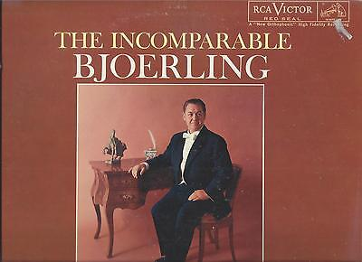 THE INCOMPARABLE Jussi BJOERLING, RCA Victor Red Seal LM-2570 Vinyl LP