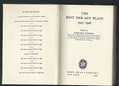 The best one-act plays 1947-48 edited margaret mayorga hc 1948 dodd, mead &