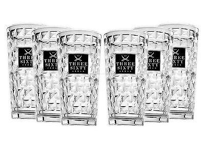 Three Sixty Vodka Longdrink Glas Gläserset - 6 Stück