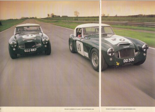 3 LOT Austin-Healey, Big-Healey in Competition, Multiple-Page Magazine Articles