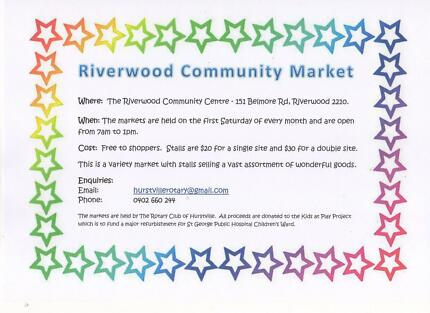 Riverwood Community Market - Saturday 2 December 2017