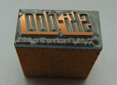 Vintage Printing Letterpress Printers Block Ski-doo