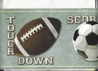 SPORTS BASKETBALL FOOTBALL SOCCER BASEBALL WALLPAPER BORDER NEW ARRIVAL KIDS - Football Wallpaper Border